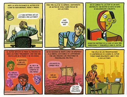 Parte de una de las historietas que componen el libro 'Confesiones de un hombre en pijama', de Paco Roca.