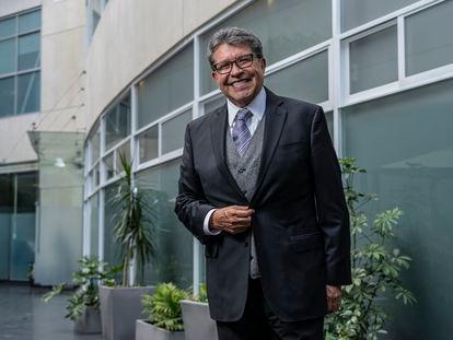 Ricardo Monreal durante una entrevista en el Senado de la República, el pasado 29 de septiembre.