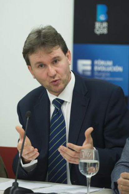Javier Lacalle, durante la rueda de prensa del domingo.