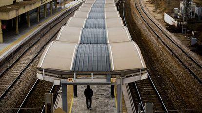 En la imagen, vista de la estación de cercanías de Santa Eugenia (Madrid).