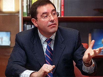 Alberto García Erauzkin, consejero director de Euskaltel, la semana pasada en Derio (Vizcaya).