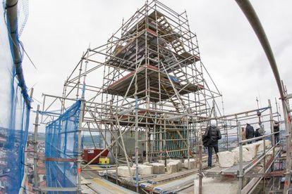 Obras en una de las torres de la Catedral