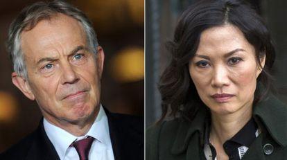 Tony Blair y Wendy Deng.