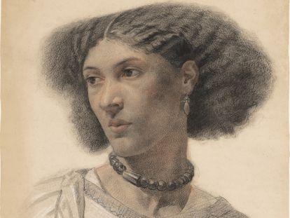 Retrato de Fanny Eaton realizado por Walter Fryer Stocks en 1859.