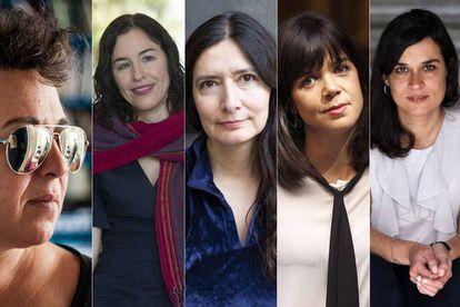 Gabriela Cabezón Cámara, Guadalupe Nettel, Isabel Mellado, Lara Moreno y Carolina Senín.