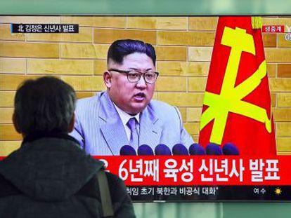 El líder norcoreano advierte a EE UU de su fuerza atómica, pero se muestra conciliador con Seúl
