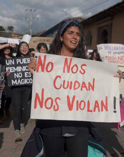 Una manifestación de mujeres, en Chiapas.