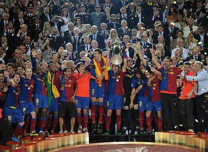 El equipo levanta la Copa de Europa