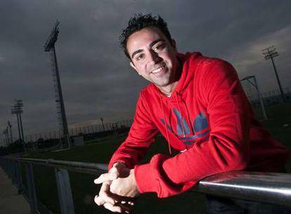 Xavi, el viernes, en la ciudad deportiva del Barcelona.