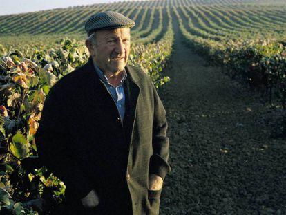 Alejandro Fernández, creador del Grupo Pesquera, fogografíado en uno de sus viñedos en 2006.