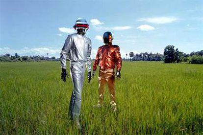 Los componentes del dúo musical Daft Punk.