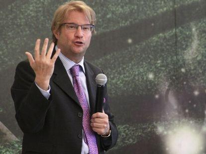 Andrés Roemer, en La Ciudad de las Ideas, en Puebla, en 2012.