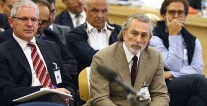 Francisco Correa y Pablo Crespo este martes en la Audiencia Nacional.