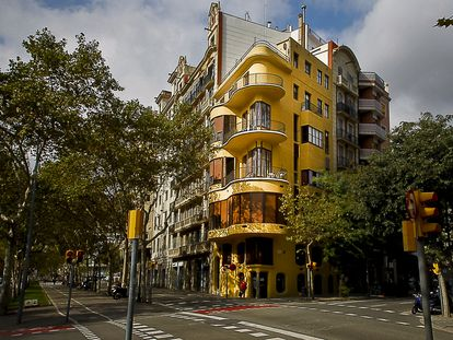 Casa Planells del arquitecto Josep Jujol, en la Diagonal de Barcelona.