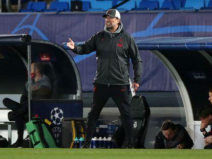 Jurgen Klopp, durante el partido de este martes entre el Madrid y el Liverpool en el Alfredo di Stéfano.