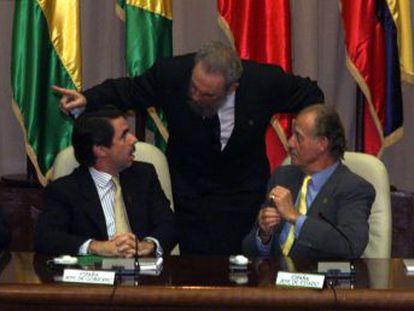 La visita no oficial de Aznar y el Rey a La Habana en 1999 estuvo llena de tropiezos y ridículos diplomáticos