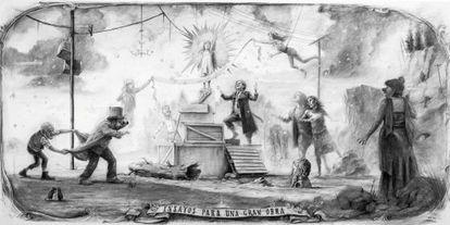 Uno de los bocetos de 'Ensayos para una gran obra'.