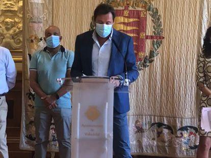 El alcalde de Valladolid, Óscar Puente, el pasado 1 de septiembre en la sede del Ayuntamiento.