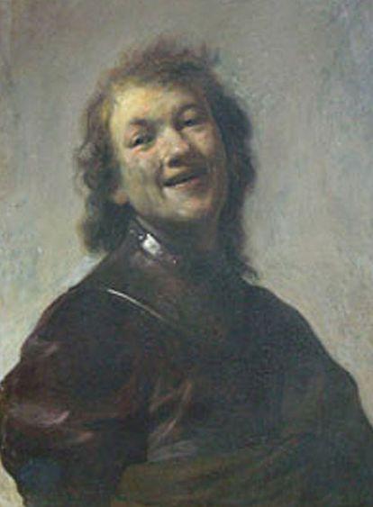 <i>El joven Rembrandt como Demócrito, el filósofo sonriente.</i>