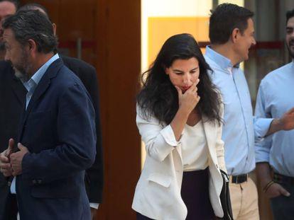 Rocío Monasterio, diputada de Vox, en el pleno de la Asamblea de Madrid.