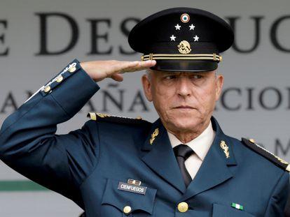 El general Salvador Cienfuegos, durante una acto militar en 2016.