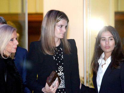 Athina Onassis, al llegar al Real Club Náutico de A Coruña.