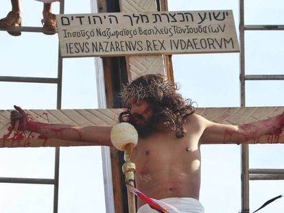 Imagen de la última representación de la Pasión de Cristo en Iztapalapa.