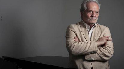 El compositor y director de orquesta hungaro Péter Eötvös, este lunes en la Escuela de Musica Reina Sofia en Madrid.