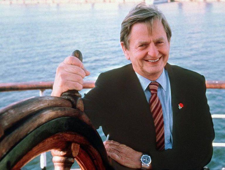 Olof Palme fotografiado en la década de los ochenta en Estocolmo.