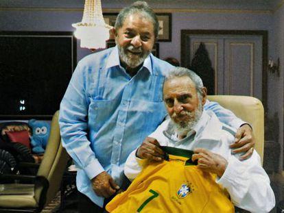 Lula, con Castro el pasado febrero.