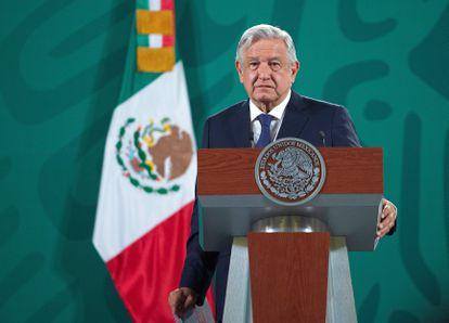 El presidente de México, Andrés Manuel López Obrador, durante una conferencia de prensa matutina.