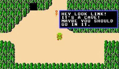 Captura del primer 'The Legend of Zelda', de 1986.