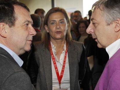 Abel Caballero y Carmela Silva, el pasado mes de marzo en un acto del PSdeG.