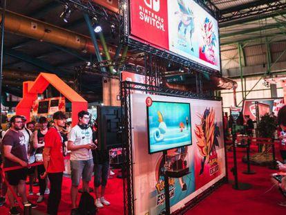 La zona de Nintendo en Gamepolis.