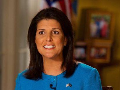 La gobernadora de Carolina del Sur, Nikki Haley, dio la réplica republicana