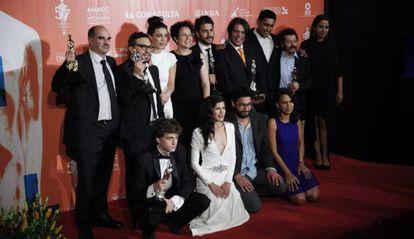 Los integrantes de la película 'Güeros' en los Ariel 2015.