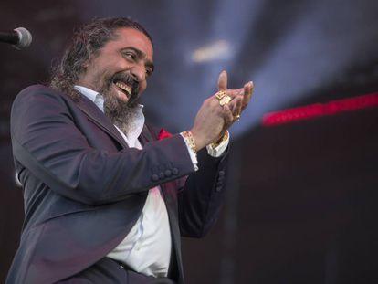 Diego El Cigala, en su actuación en el Sonorama, en Aranda de Duero.