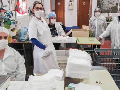 Varias de las impulsoras del frustrado relanzamiento de la cooperativa de El Borge, Málaga.
