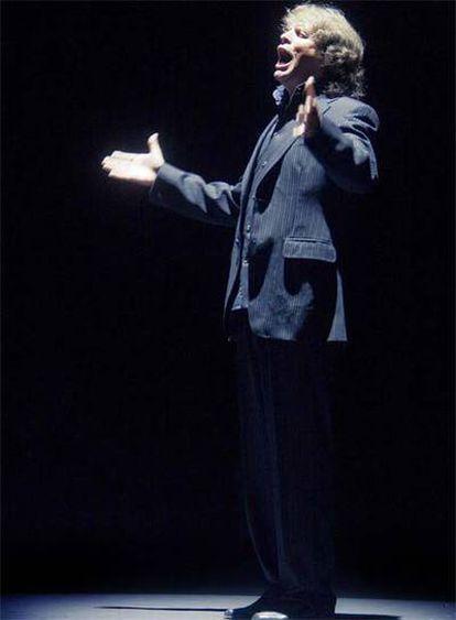 El cantaor José Mercé, en el escenario