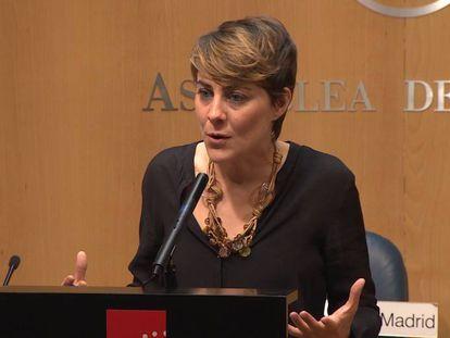 Lorena Ruiz-Huerta, portavoz de Podemos en la Asamblea de Madrid.