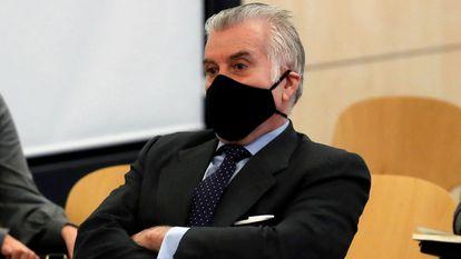 Luis Bárcenas, extesorero del PP, durante la primera sesión del juicio, celebrada este lunes en la Audiencia Nacional