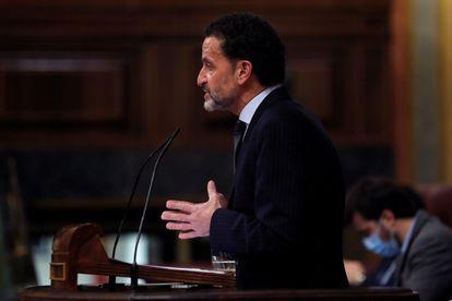 El portavoz de Ciudadanos y candidato a presidir la Comunidad de Madrid, Edmundo Bal, interviene durante un pleno del Congreso.