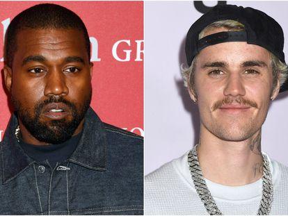 Kanye West y Justin Bieber.