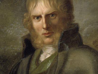 Caspar David Friedrich en un retrato de Gerhard von Küngelgen.