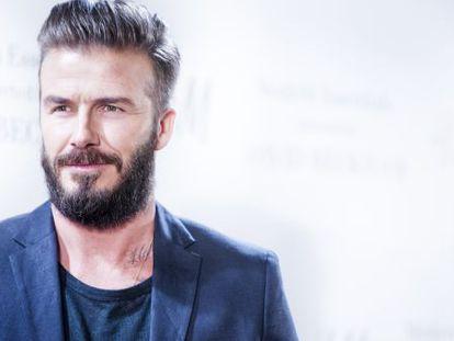 David Beckham en Madrid.