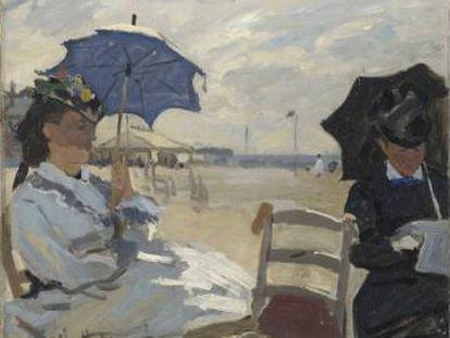 'La playa en Trouville' (1870), de Claude Monet.