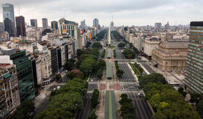 Una vista aérea de la ciudad de Buenos Aires, a finales de marzo pasado.