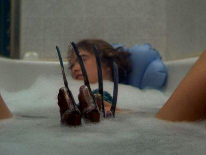 Mítico momento de la película de terror 'Pesadilla en Elm Street', de 1984, dirigida por Wes Craven.