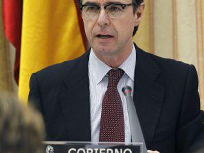 El ministro de Industria, José Manuel Soria, en su intervención de este martes en el Congreso.