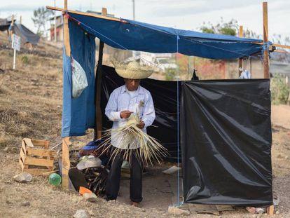 Un hombre en Tlapa, en el Estado mexicano de Guerrero.